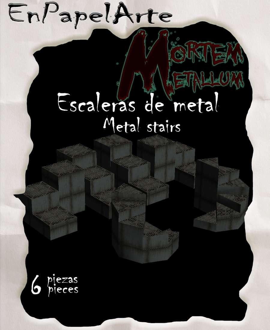 Escaleras de metal metal stairs enpapelarte for Escalera en l