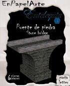 Puente de piedra (carta) Stone bridge