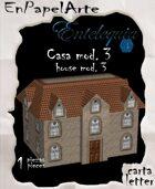 Casa mod. 3 / House mod. 3 (carta)