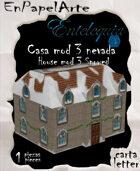 Casa mod. 3 nieve / House mod. 3 snowed (carta)