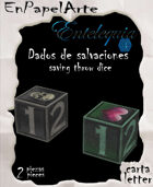 Dados de salvación / Saving throw dice (CARTA)