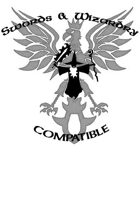 Swords & Wizardry Compatibility Logo Black & White Version