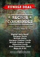 Sector Commander: WW2 (w/digital rule book) [BUNDLE]
