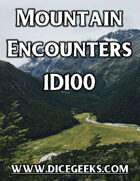 Mountain Encounters 1D100