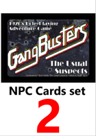 Gangbusters NPC cards set 2