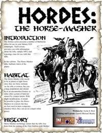 HORDES: The Horse-Masher