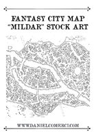 "Fantasy City Map ""Mildar"""