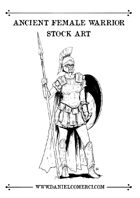 Ancient Female Warrior Stock Art