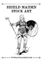 Shield Maiden Stock Art