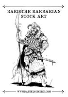 Bardiche Barbarian Stock Art