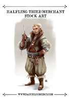 Halfling Thief Merchant Stock Art