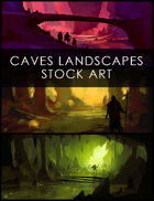 Caves Landscapes Stock Art