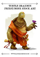 Oriental Turtle Brahmin Monk Stock Art