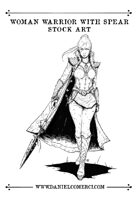 Warrior Woman Stock Art