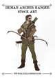 Human Archer Ranger Stock Art