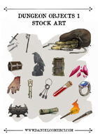 Dungeon Objects 1 Stock Art