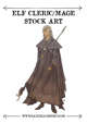 Male Elf Cleric Mage Stock Art