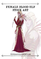 Blood Elf Woman Stock Art
