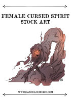 Cursed Woman Spirit Stock Art