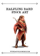 Halfling Bard Stock Art