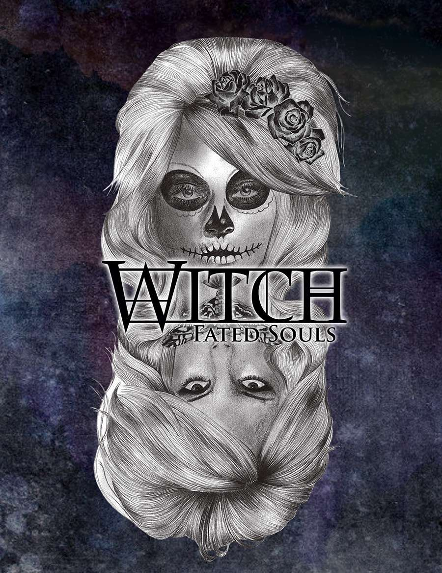 The cover of Witch: Fated Souls showing a woman in and out of Death's Head makeup