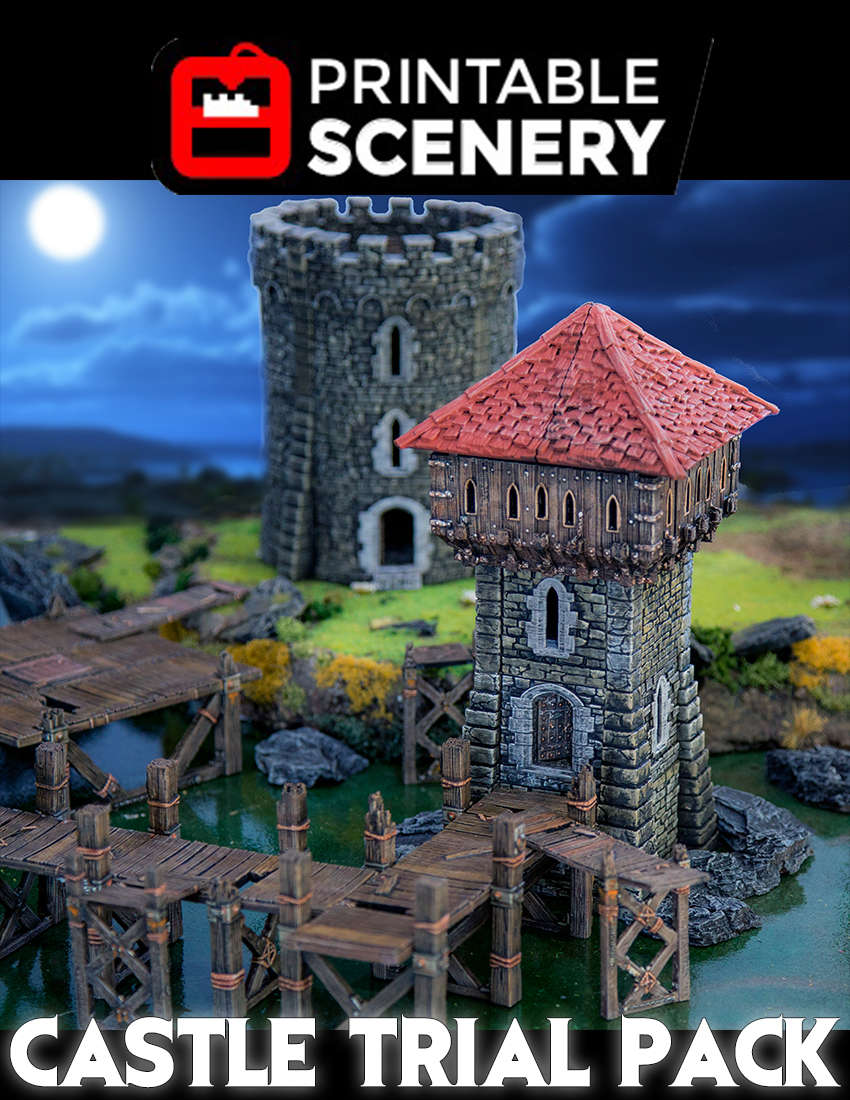 photo relating to Free Printable Scenery titled Rampage No cost Castle Demo Pack -
