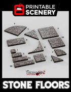 FAST PRINT - Dungeon Tiles - www printablescenery com | Flames