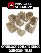 OpenLOCK Square Brick Dungeon Tiles