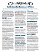 CG&D Guidelines For Freelance Writers