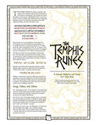 Uresia: The Temphis Runes (Font Set)