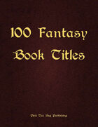 100 Fantasy Book Titles