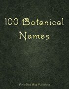 100 Botanical Names