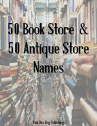 50 Book Store & 50 Antique Store Names