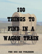 100 Things to Find in a Wagon Train