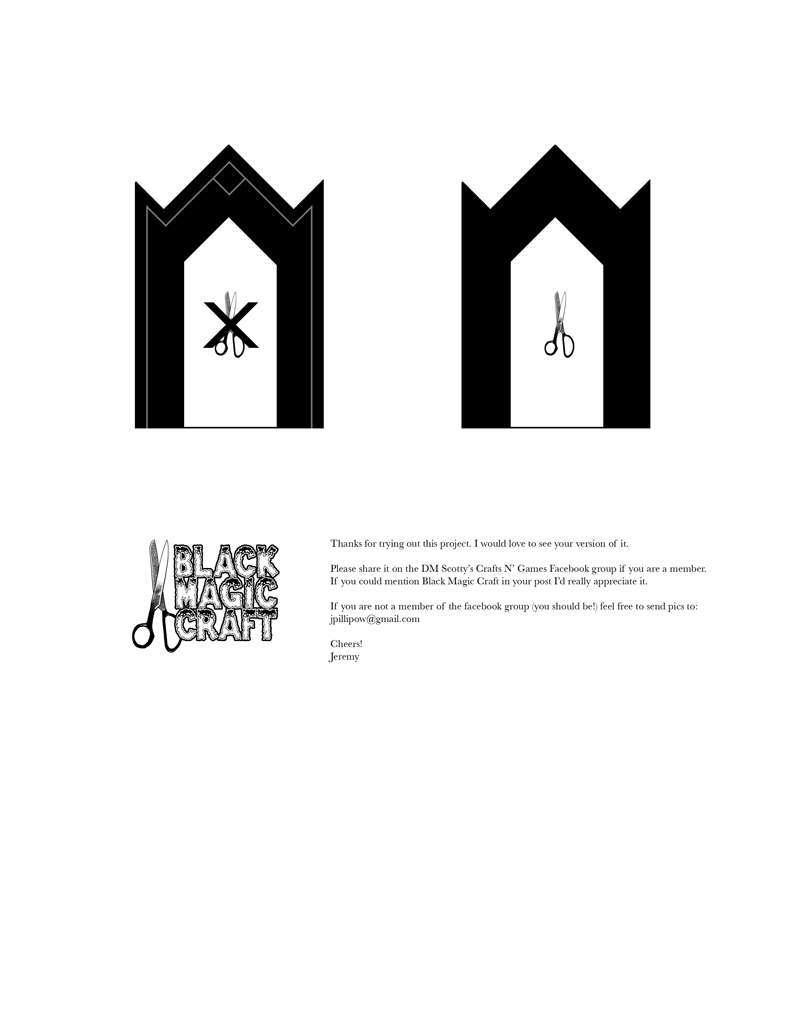 Castle Doorway Template #1 - Black Magic Craft