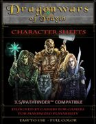 Dragonwars of Trayth- Blank Character Sheets - 3.5/Pathfinder Compatible