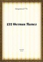 Gregorius21778: 132 German names