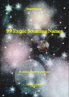 Gregorius21778: 99 Exotic Sounding Names