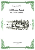 Gregorius21778: 50 German Names for Towns/Villages