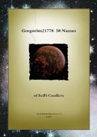 Gregorius21778: 50 Names of SciFi Conflicts