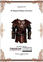 Gregorius21778: 30 Magical Items of Armor