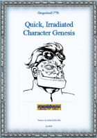 Gregorius21778: Quick, Irradiated Character Genesis