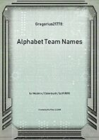 Gregorius21778: Alphabet Team Names