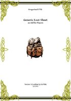 Gregorius21778: Generic Loot Sheet