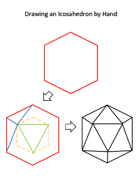 Draw an Icosahedron by Hand - Simple and Stepwise