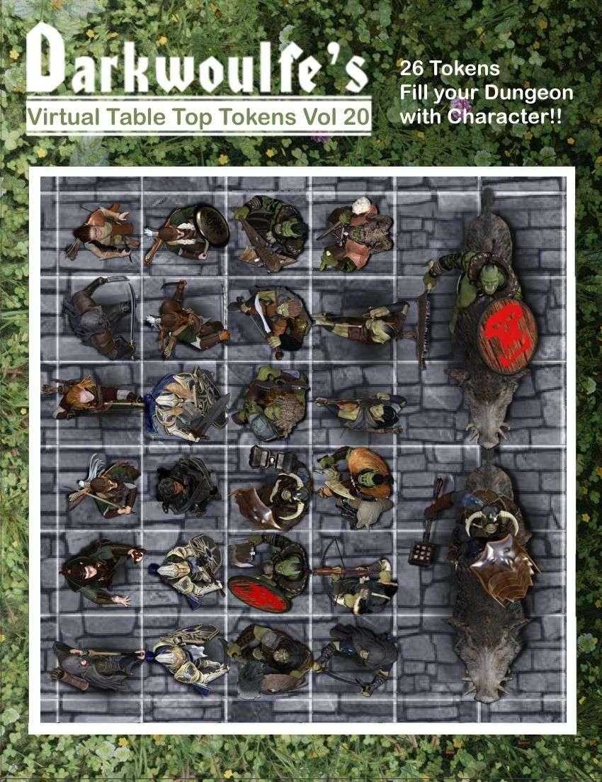 Darkwoulfe's Token Pack 20: Orcs vs Eldaryn