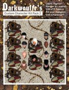 Darkwoulfe's Token Pack - Customizable Character Kit Pack 2 Supplement