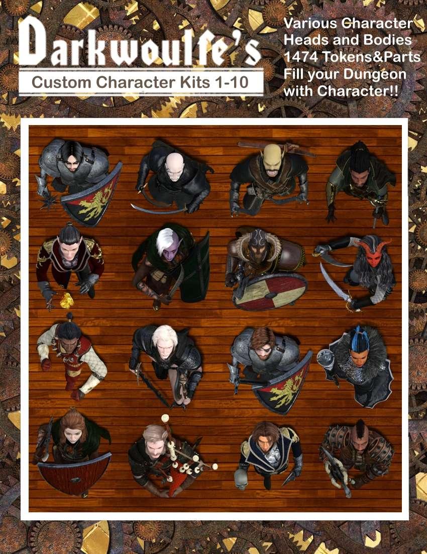 Darkwoulfe's Tokens Customizable Token Packs 1 -10 [BUNDLE] - Darkwoulfe's  Digital   DriveThruRPG com