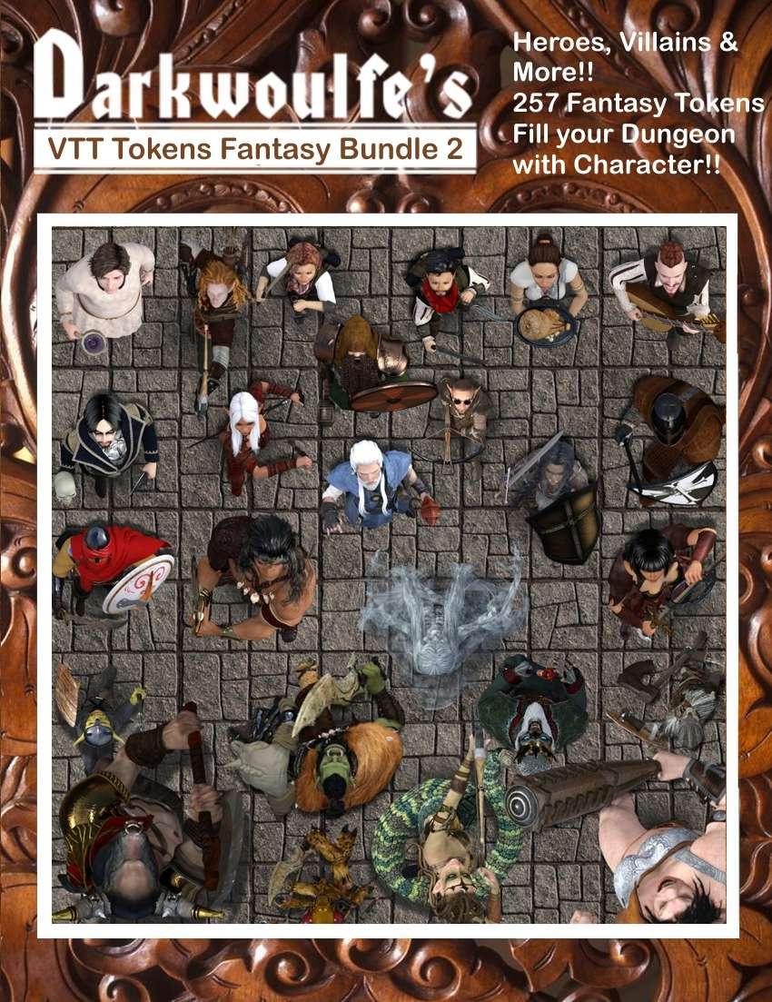 Darkwoulfe's Fantasy RPG Tokens - Set 2 [BUNDLE] - Darkwoulfe's Digital |  DriveThruRPG com
