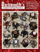 Darkwoulfe's Token Pack - Customizable Races Kit Pack 4 - Fantasy Cat Folk